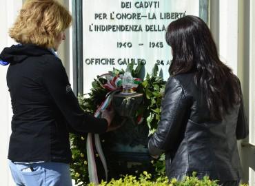 70° Liberazione, Enrico Rossi con gli operai della Galileo