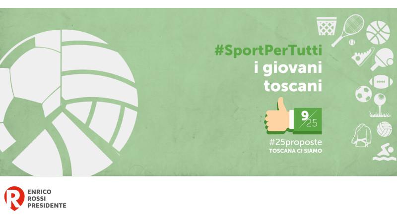 #25proposte, una Toscana democratica anche per lo sport