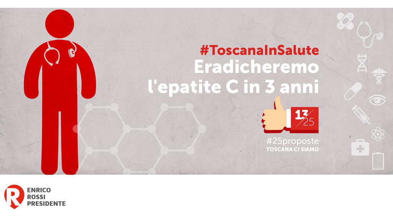 """#25proposte, Rossi: """"Eradicheremo l'epatite C in Toscana in tre anni"""