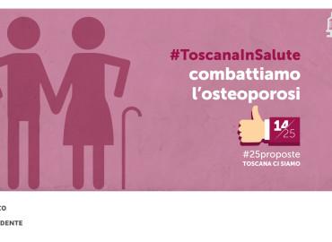 #25proposte, la Toscana per la prevenzione dell'osteoporosi