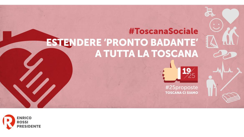 #25proposta, Sociale: Pronto Badante in tutta la Toscana