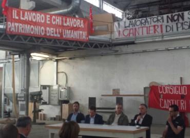 """Cantieri Navali Pisa, Rossi: """"Vittoria degli operai, vera classe dirigente"""""""